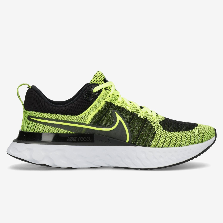 Nike React Infinity Run Flyknit 2 - Negro - Zapatillas Running Hombre